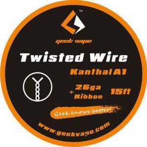 5m GeekVape Twisted Atomizer DIY Kanthal KA1 Tape Wire (26GA + Ribbon)