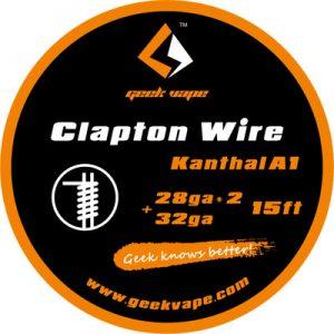 5m GeekVape Clapton Atomizer Kanthal KA1 Tape Wire (28GA * 2 + 32GA)