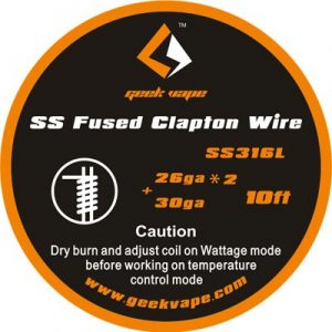 10ft GeekVape SS Fused Clapton TC Wire
