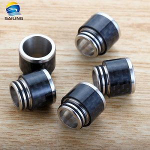 SS+Carbon Fiber 810 Drip Tips for TFV8/TFV12