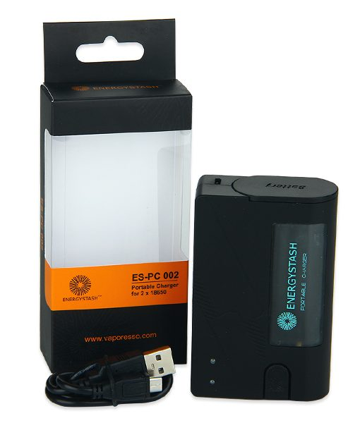 Energy Stash Portable 18650 Battery Charger