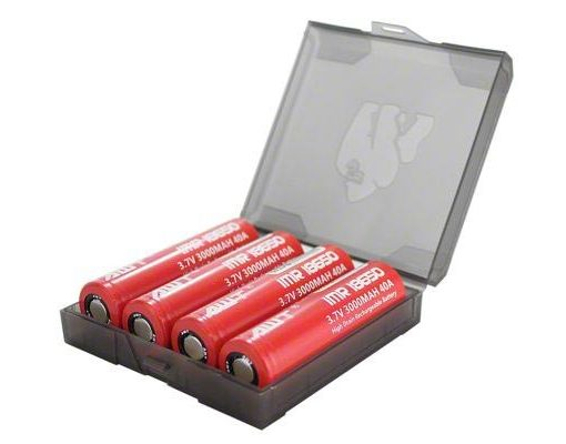 Chubby Gorilla Transparent Black Quad 18650 Signature Battery Case