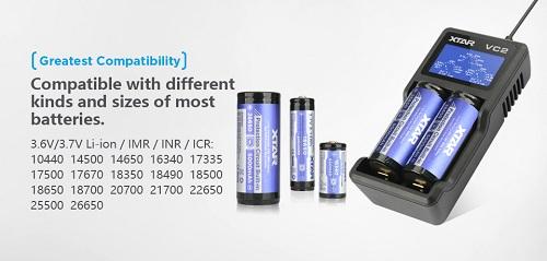 XTAR VC2 USB Li-ion Battery LCD 2-Battery Charger 2