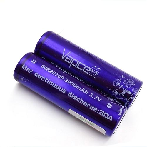 Vapcell INR20700 3000mAh 3.7V Battery 30A