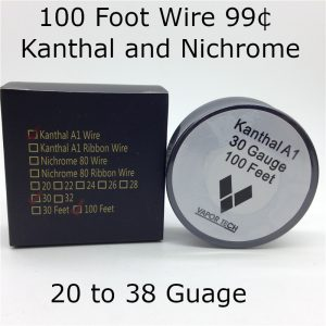 100 Foot Wire 99 Cents Nichrome 80 and Kanthal A1