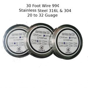 30 Foot Wire 99 Cents Stainless Steel 316L 304