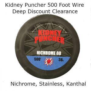Kidney Puncher 500 Foot Wire, Stainless, Kanthal, Nichrome